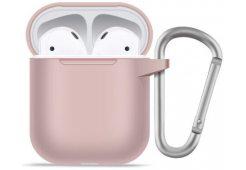 Чехол BlueO для AirPods 1/2 Soft silicone Pink