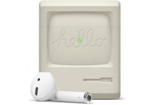 Elago для AirPods Gen 1 & 2 чехол Unique AW3 Retro design Silicone case Classic white