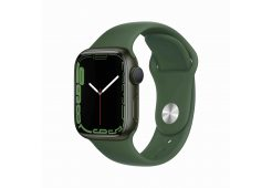 Apple Watch Series 7 GPS, 41mm Green Aluminium Case with Clover Sport Band