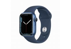 Apple Watch Series 7 GPS, 41mm Blue Aluminium Case with Abyss Blue Sport Band