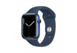 Apple Watch Series 7 GPS, 45mm Blue Aluminium Case with Abyss Blue Sport Band