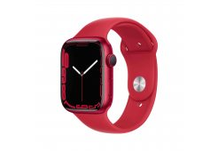 Apple Watch Series 7 GPS, 45mm (PRODUCT)RED Aluminium Case with (PRODUCT)RED Sport Band