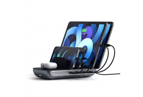 Satechi Dock5 Multi-Device Charging Station with Wireless Charging. Цвет: Space Grey