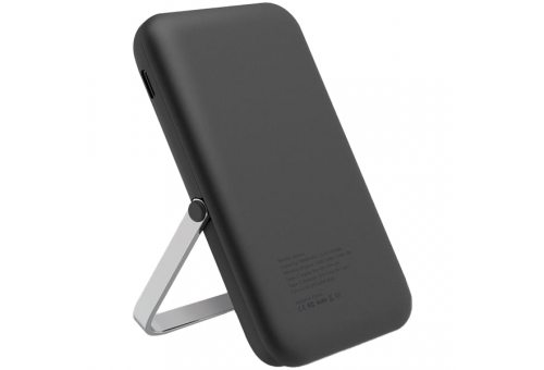 Uniq АКБ внешняя HOVEO 5000W Magnetic wireless 15W USB-C PD 20W with stand Grey