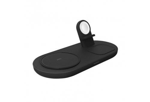 Uniq Беспроводное СЗУ Aereo Mag 3-in-1 magnetic wireless 15W + adapter Grey
