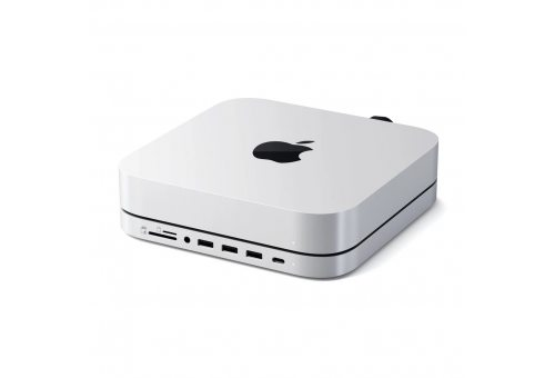 USB док станция с подставкой Satechi Mac Mini Stand & Hub для Mac Mini. Цвет: Silver.