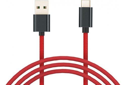 USB-кабель XIAOMI Mi Braided USB Type-C Cable SJX10ZM 100см красный