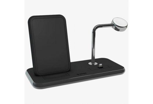 ZENS Aluminium Dual Wireless Charger + Dock + Watch 10W. Цвет черный.