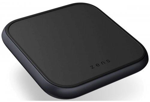 ZENS Aluminium Single Fast Wireless Charger с адаптером питания USB-C PD 18 Вт. Цвет черный.