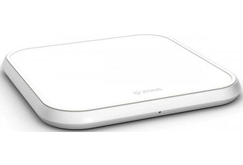 ZENS Aluminium Single Wireless Charger 10W. Цвет белый.