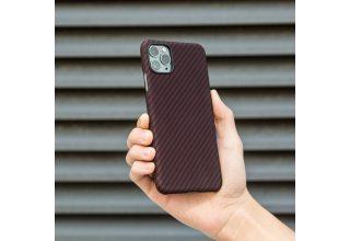Чехол Pitaka MagEz Case for iPhone 11 Pro Max (Black/Red Twill)