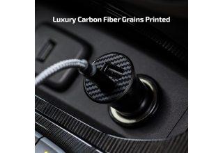 Автомобильное зарядное устройство Pitaka 36W Fast Aramid Charging Car Adapter