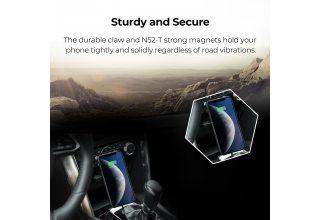 Магнитный автомобильный держатель с беспроводным з/у в паз проигрывателя CD Pitaka New Magmount Qi (CD Slot)