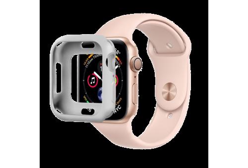 Силиконовый чехол COTEetCI для Apple Watch Series 4 44 мм, цвет серый