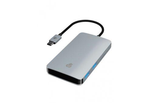 HB01SG01-TC Универсальный адаптер hub Link 7 in 1 для устройств с разъемом USB-C, цвет: серый