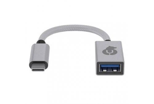HB02SL01-AC  USB-C адаптер hub Link для устройств с разъемом USB-А/USB-C, цвет: серебристый uBear HB02SL01-AC HB02SL01-AC