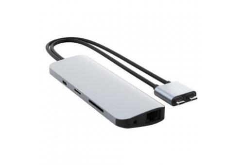 USB-хаб Hyper HyperDrive Viper 10-in-2 Hub для MacBook Pro/Air. Цвет: серебряный.