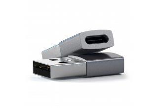 Адаптер Satechi USB Type-A to Type-C, «серый космос»