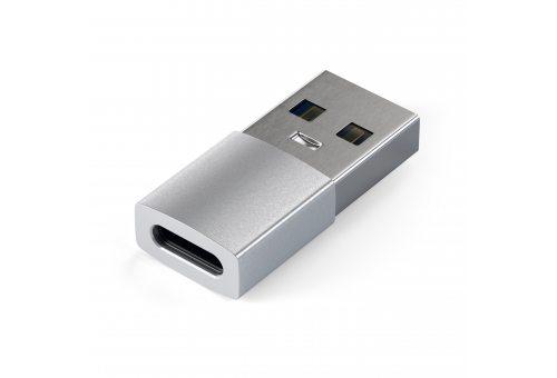 Адаптер Satechi USB Type-A to Type-C, серебристый