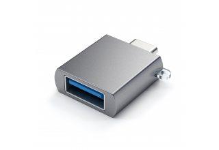 Адаптер Satechi ALUMINUM TYPE-C TO USB 3.0 ADAPTER, «серый космос»