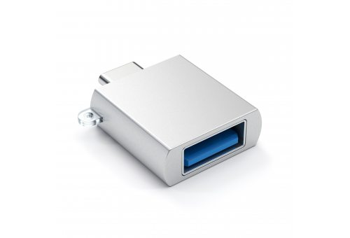 Адаптер Satechi ALUMINUM TYPE-C TO USB 3.0 ADAPTER, серебристый