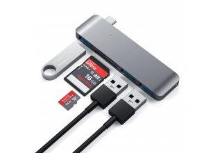 Адаптер Satechi TYPE-C USB 3.0 3-IN-1 COMBO HUB, «серый космос»