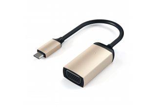 Адаптер Satechi Type-C to VGA 1080p/60Hz. Поддержка разрешения 1080p/60Hz, золотой