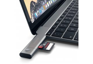 Кардридер Satechi Aluminum Type-C USB 3.0 and Micro/SD, «серый космос»
