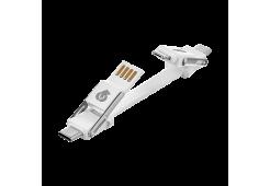 Адаптер-кабель uBear Life Switch Key Ring 6 в 1, белый
