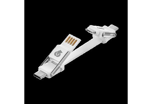 Адаптер-кабель uBear Life Switch Key Ring 6 в 1, белый uBear DC09WH61-AD DC09WH61-AD