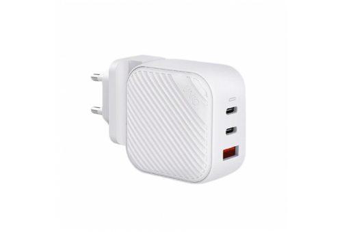 СЗУ Uniq Verge Pro Gan66 2 USB-C +USB-A Smart IQ (total 66W) White