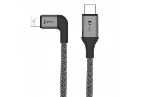 Кабель j5create USB-C на Lightning. Цвет: черный. (JALC15B)