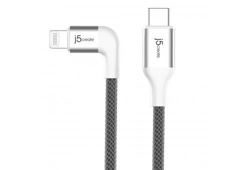 Кабель j5create USB-C на Lightning. Цвет: белый. (JALC15W)