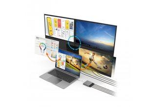 Адаптер j5create USB-C на 4 порта HDMI с приложением для Windows