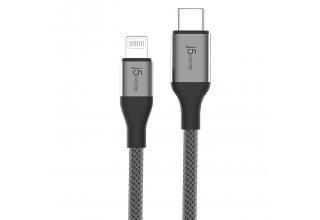 Кабель j5create USB-C на Lightning. Цвет: черный.
