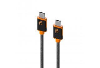 Кабель j5create USB-C на USB-C с двойной нейлоновой оплёткой.
