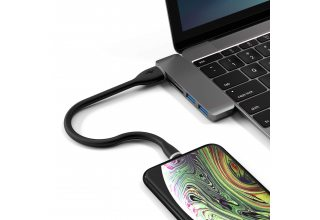 Кабель Satechi Flexible Lightning to USB. Длина 25 см, черный