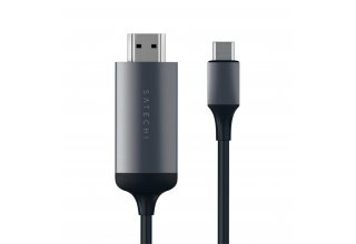 Провод Satechi USB Type-C to HDMI 4K. Поддержка разрешения 4K. Длина 1,8 м, «серый космос»