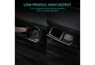 Автомобильное зарядное устройство Aukey 2-Port 24W Car Charger