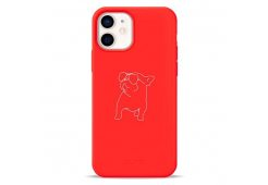 Чехол Pump Silicone Minimalistic Case for iPhone 12 mini Pug With