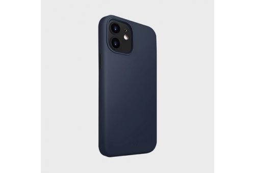 Чехол Uniq для iPhone 12 mini (5.4) LINO Anti-microbial Blue
