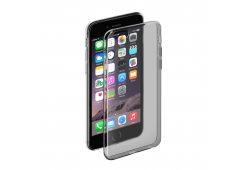 Чехол Gel Case и защитная пленка для Apple iPhone 6/6S,черный-прозрачный, Deppa