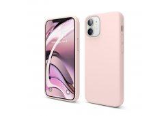 Чехол Elago для iPhone 12 mini (5.4) мягкий силикон, розовый