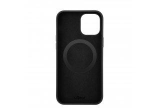 Mag Safe, чехол защитный для iPhone 12/12 Pro,  силикон, черный
