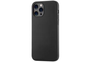 Mag Safe, чехол защитный для iPhone 12 Pro Max,  силикон, черный