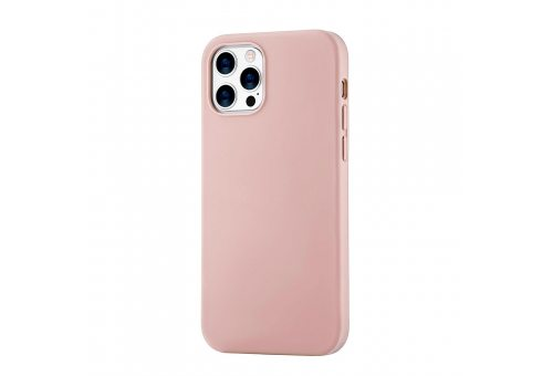 Mag Safe, чехол защитный для iPhone 12 Pro Max,  силикон, розовый