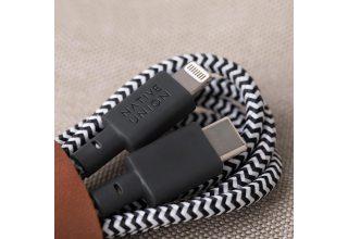 Кабель NATIVE UNION Belt Cable (USB-C - Lightning, 1,2 м), зебра Native Union BELT-KV-CL-ZEB-2 BELT-KV-CL-ZEB-2
