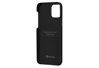 "Чехол Pitaka MagEz Case для iPhone 12 Pro Max 6.7"" (Black/Grey Plain)"