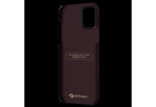 "Чехол Pitaka MagEz Case для iPhone 12 Pro 6.1"" (Black/Red Plain)"