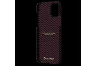"Чехол Pitaka MagEz Case для iPhone 12 Pro 6.1"" (Black/Red Twill)"